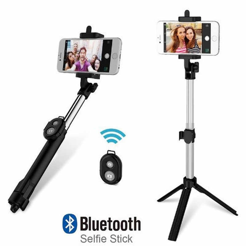 Bluetooth REMOTE Shutter Selfie Selfie Stick Android IOS ขาตั้งกล้องสำหรับ Stick Monopod