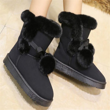 New women boots sneakers ball with short plush lining warm and comfortable wear-resistant non-slip flat