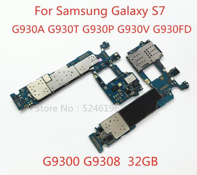 Appliquer à pour Samsung Galaxy S7 G9300 G9308 G930A G930T G930P G930V G930FD 32GB original débloqué carte mère remplacement