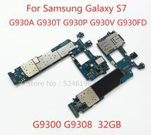 Gelden Voor Samsung Galaxy S7 G9300 G9308 G930A G930T G930P G930V G930FD 32GB originele ontgrendeld moederbord vervanging