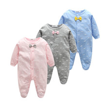 Autumn Baby Girl Clothes Newborn Baby Boys Rompers Fall Infant Jumpsuit Toddler Clothing Winter Long Sleeve Kids Outfits cheap YIGA COTTON cartoon Unisex Covered Button Full O-Neck YCWJ-3896 Fits true to size take your normal size Spring Autumn Winter