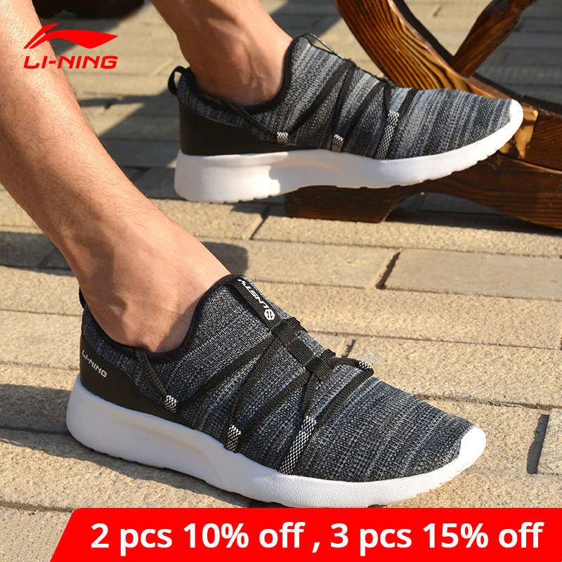 Li-Ning <font><b>Men</b></font> Fancy Stylish Lifestyle <font><b>Shoes</b></font> Soft Breathable Sneakers Leisure Support <font><b>LiNing</b></font> li ning Sport <font><b>Shoes</b></font> AGLM003 YXB046 image
