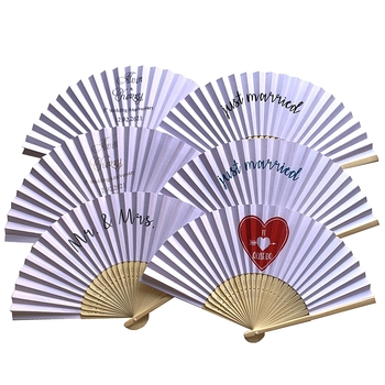 60pcs/lot Personalized Wood Craft Silk Wedding Fans Hand Held Wedding Party Gift Favors with names and date printed personalized with wedding date bride and bridegroom names wedding favors diamond ballpoint pens crystal capacitive pen