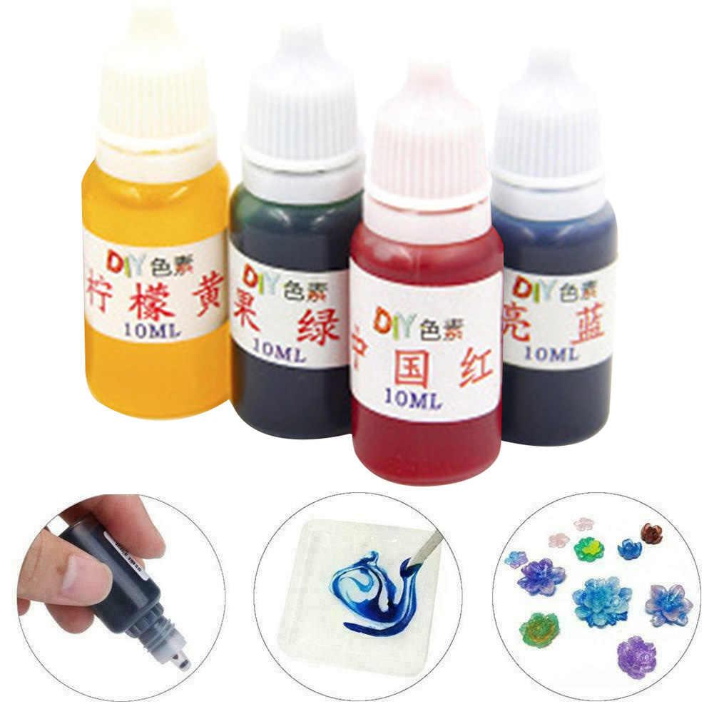 4 pçs sabão colorante pintura cola epoxy resina cura tintura arte pigmento líquido jóias fazendo mix cores diy bombas de banho ferramenta de decoração