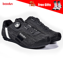 BOODUN Men's Cycling Shoes Non Lock Antislip Rubber Sole Waterproof Reflective Breathable Road Mountain Bike MTB Bicycle Shoes boodun breathable mountain cycling shoes leisure sports outdoor mtb road bike bicycle lock riding shoes women