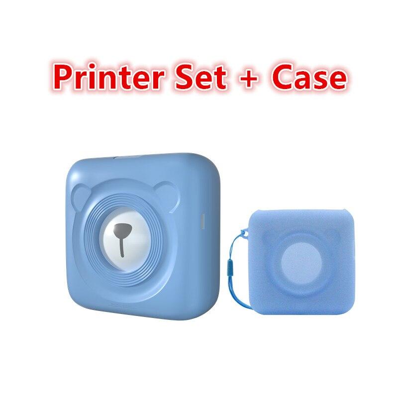 GOOJPRT Portable Bluetooth 4.0 Thermal Photo Printer Wireless Inkless Mini Pocket Printers For IOS Android PC W/ Soft Case Fotos