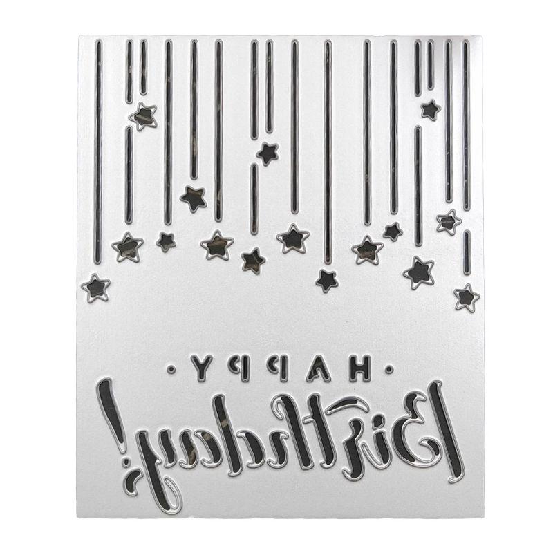 HAPPY BIRTHDAY Cutting Dies Stencil Scrapbooking Embossing Album Paper Card