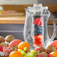 NEW Water Bottle Fruit Infusion Flavor Juice Pitcher Drinking Container Ice kettle Jar jug 2.9 qt Clear Kitchen Bar