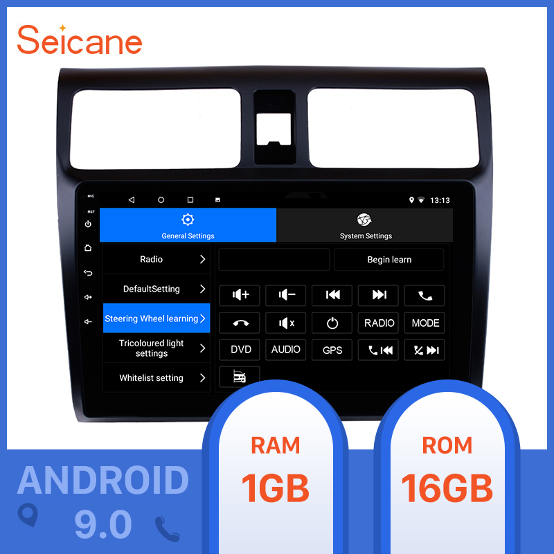 Seicane 2din 10.1inch Android 10.0 Car GPS Radio Stereo Unit Player for <font><b>2005</b></font> 2006-2010 <font><b>Suzuki</b></font> <font><b>Swift</b></font> Support Digital TV TPMS DVR image