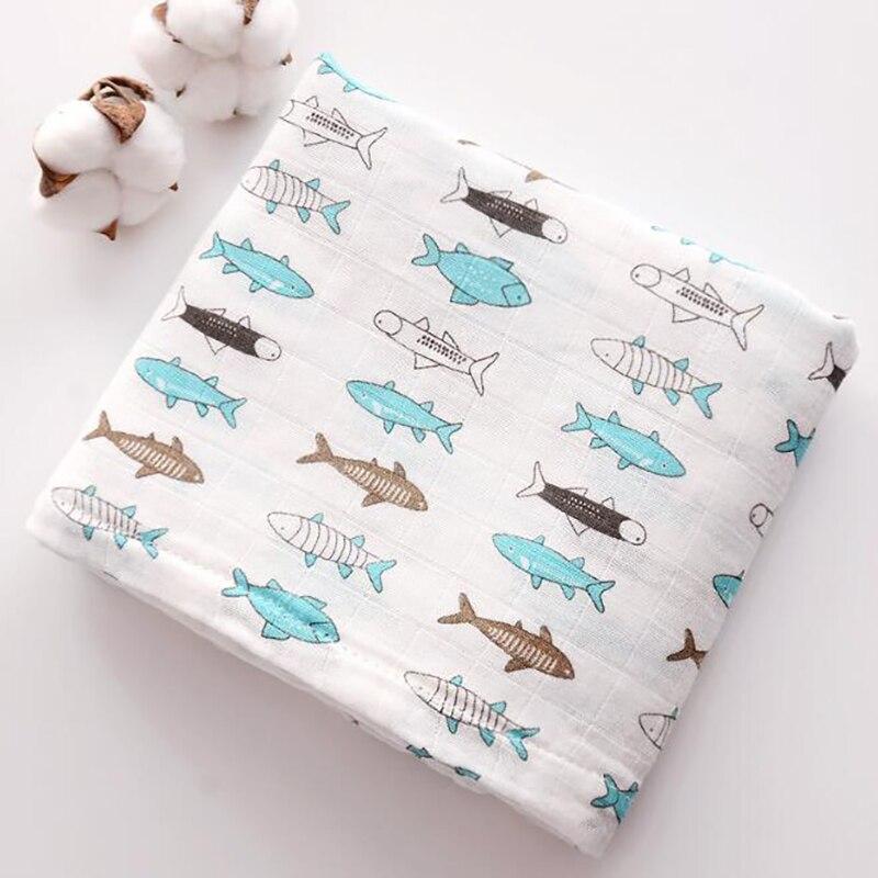 Купить с кэшбэком Baby Newborn Bedding  Blanket  Bath Towel Quilt  Cotton Stuff 2 Layers of Gauze Stroller Blanket Breathable