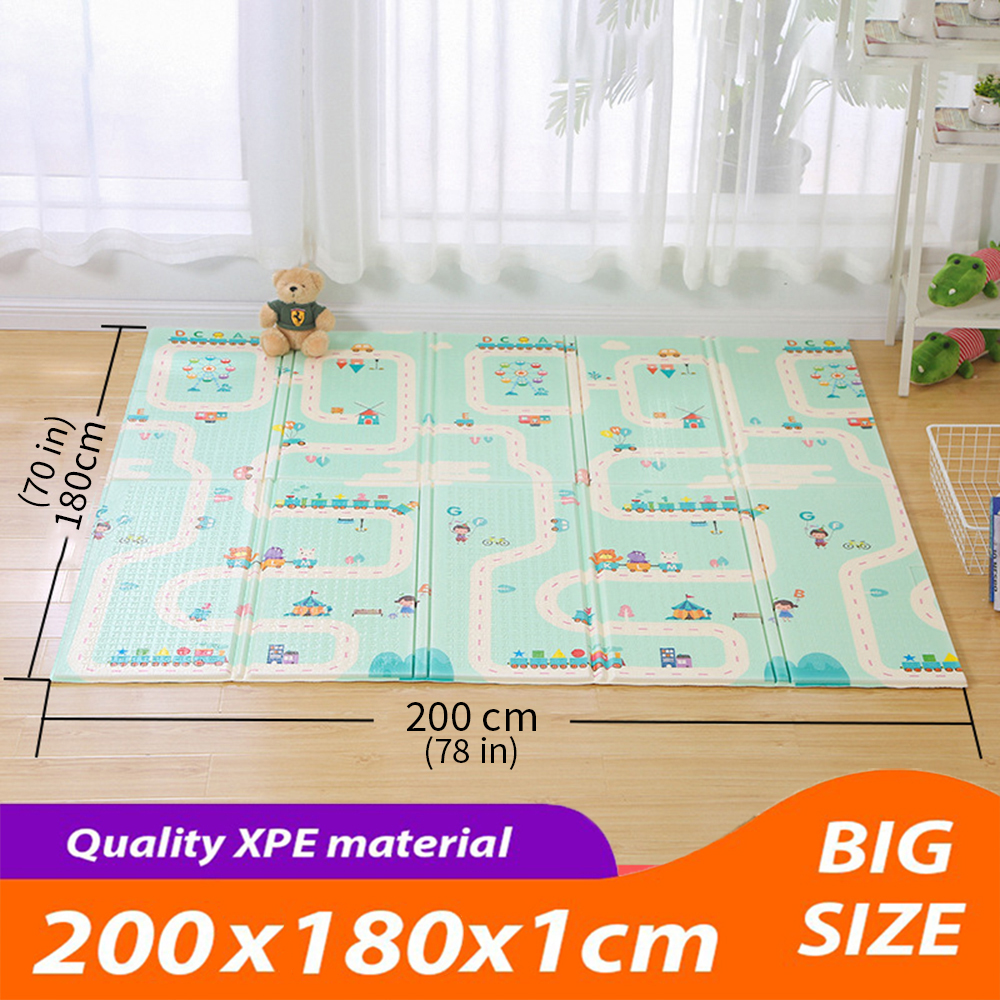 Foldable Baby Play Mat Crawling Mat XPE Puzzle Mat Educational Children's Carpet Climbing Pad Kids Rug Activitys Games Toys