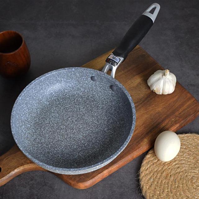 Sartén de 28cm con forma de piedra Maifan, sartén para huevos, tetera con forma redonda para cocinar, uso diario