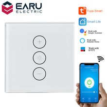 2A WiFi Smart Glass Panel Wall Touch Switch Light Dimmer Switch Smart Life Tuya APP Remote