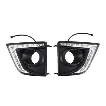 For Toyota Corolla 2014-2015 LED Daytime Running Fog Light DRL Lamp Turn Signal
