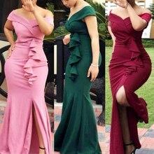 Evening-Dress Ladies Clothes Ankara Robes Women Dashiki Wedding MD Long for Elegant Slim