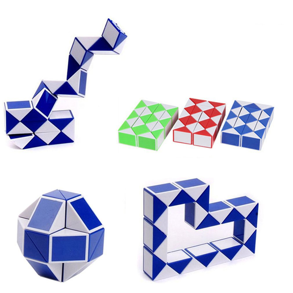 Magic Snake Ruler Magic Ruler Puzzle 24 Speed Antistress Cube Twist Snake Folding Educational Toy For Kids Child Magic Cube