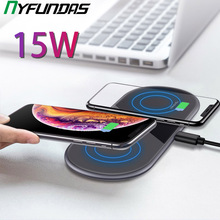 15W Qi Dual Wireless Charger dock station For Iphone 11 Pro Max XS MAX XR Samsung S10 Huawei Mate 30 P30 Pro Wireless Charging