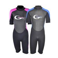 купить Man & Women Short Pants Plus-size 3MM Neoprene Scuba Diving Wetsuit Swimwear Swimming Surfing Diving Suit Keep-warm YW127.128 дешево