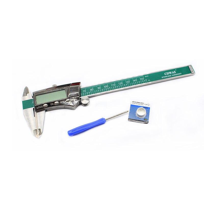 Digital Display Stainless Steel Calipers 0-150mm 1/MM/Inch LCD Electronic Vernier Caliper Waterproof