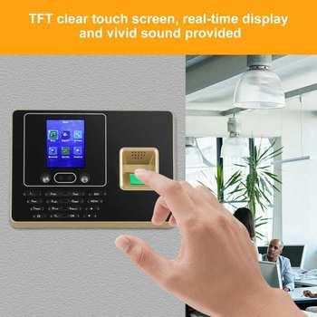 2 8 cali ekran TFT LCD twarz rozpoznawanie linii papilarnych maszyna czas obecności nagrywarka zegarowa tanie i dobre opinie VBESTLIFE CN (pochodzenie)