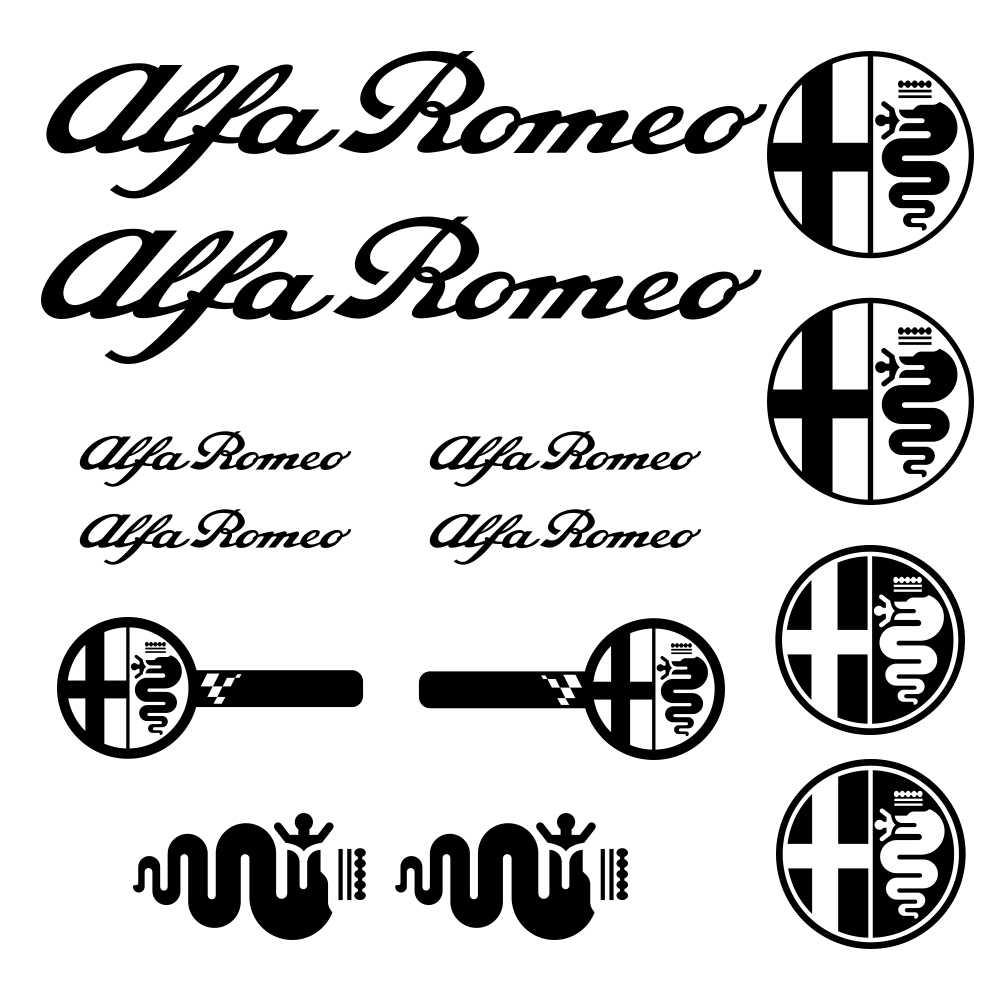 for Alfa Romeo WINDSHIELD CAR Premium STICKER vinyl decal