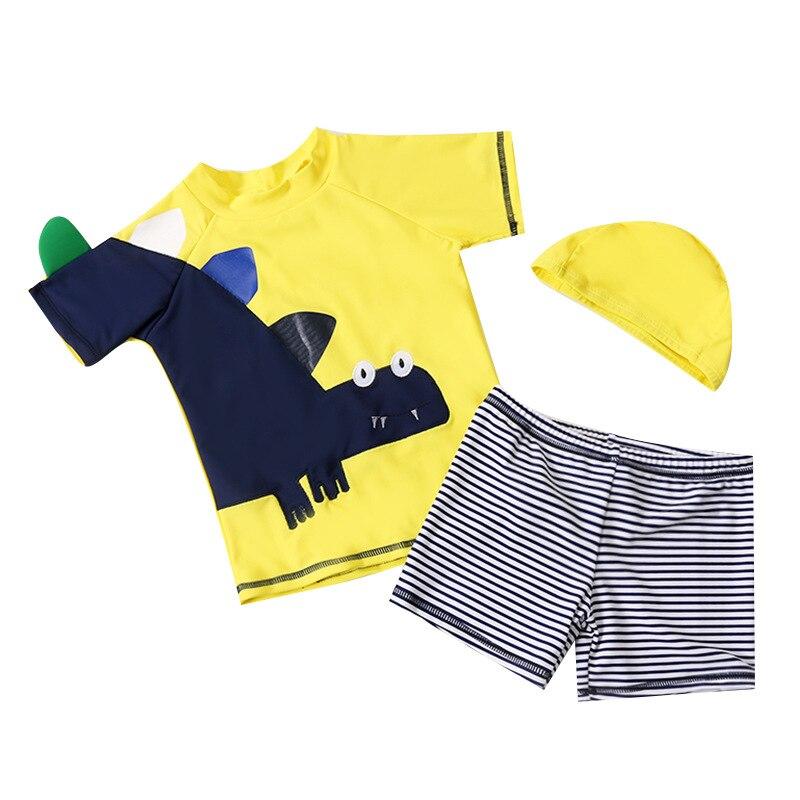 2018 Xiqi New Style Children Two-piece Swimsuits Cartoon Dinosaur BOY'S Swimsuit Cute BOY'S Swimsuit