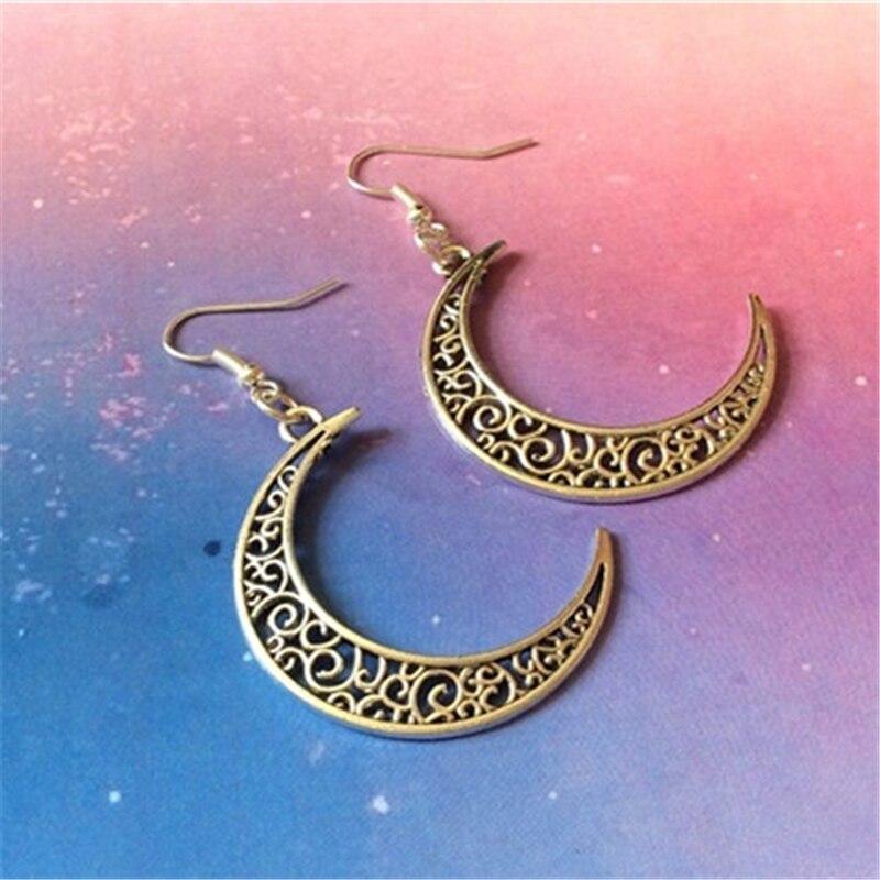 Crescent Moon Earrings, Celestial Earrings, Moon Jewellery, Christmas Jewellery, Galaxy Earrings, Lunar Jewelry, Goth Earrings