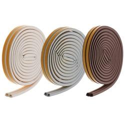 5meters D Type Self-Adhesive Door Sealing Strips Self Adhesive Window Foam Wind Waterproof Dustproof Sound Insulation Tools