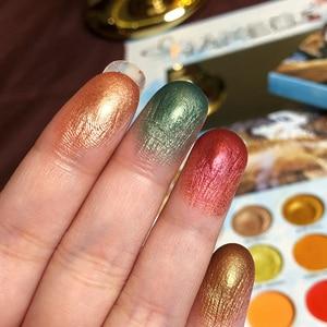 Image 3 - ICYCHEER איפור 63 צבעים קשת צבעים צלליות הבלחה Gltter מט שמנת צלליות פיגמנט maquillage paleta דה sombra
