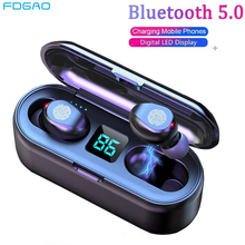 TWS Bluetooth 5.0 Earphones 2000mAh Charging Box HIFI Wirele