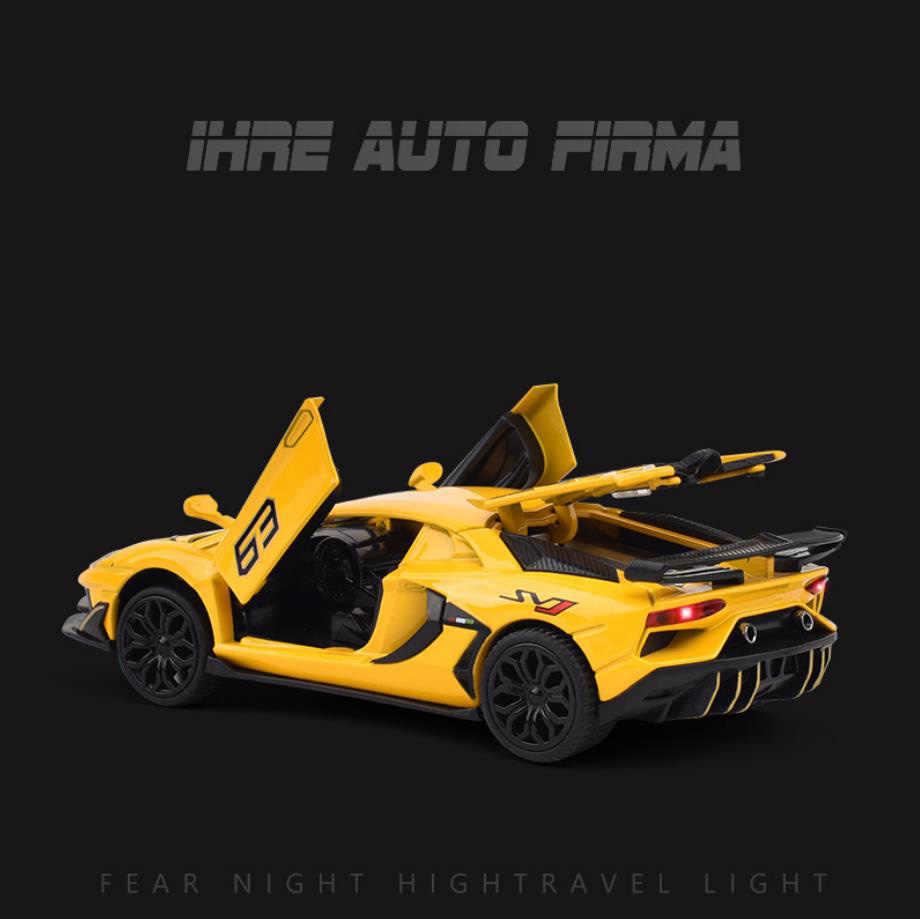 Лидер продаж, литая модель автомобиля в масштабе 1:32, Супер спортивный автомобиль, металлическая модель с светильник кой и звуком, игрушечный автомобиль