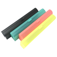 4 Pieces Plastic Pencil Case Plastic Stationery Case with Hinged Lid and Snap Closure for Pencils  Pens  Drill Bits  Office Supp