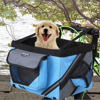 Bolsas de exterior para mascotas, cestas para perros, cachorros y gatos, manillar de bicicleta, cesta frontal, Transportín pequeño para perros y gatos, para ir de compras de viaje