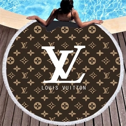 Luxury Brand Printed Thick Bath Shower Towel 150cm Circle Beach Swim Yoga Mat Cover Up Round Beach Towels Summer