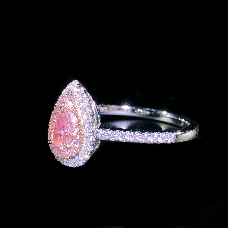 18k gold ring 0.3ct Natural Real Diamond Ring Engagement&Wedding Jewellery have certificate