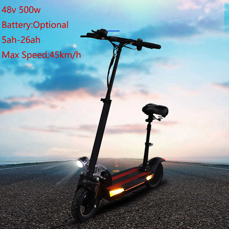 Free Shipping Electric Scooter 500W 48V 10inch Optional Battery Foldable Electric Skateboard Patinete Electrico Adulto E Scooter