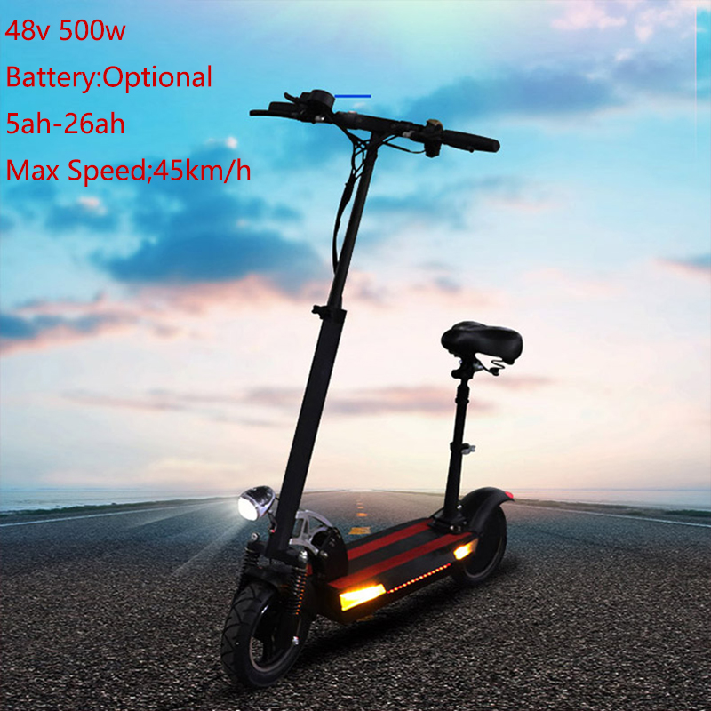 Free Shipping Electric <font><b>Scooter</b></font> 500W 48V 10inch Optional Battery Foldable Electric Skateboard Patinete Electrico Adulto E <font><b>Scooter</b></font> image