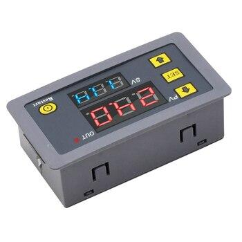 Relé Digital de retardo de tiempo, relé temporizador CA, 110V, 220V, 12V, doble pantalla LED, relé de sincronización ajustable, interruptor de retardo de tiempo 2