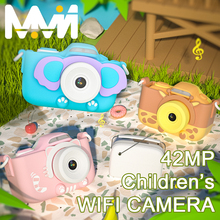 Childrens Camera WIFI 42MP Digital 4K Camera 3 Touch Screen Camera Toys For Girls Children Gift Kids Education Toy Camera 4K