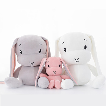 Śliczne pluszowe króliczki-maskotki 50cm i 30 cm zabawki prezenty dla dzieci lalki przytulanki do spania WJ491 tanie i dobre opinie HAIMAITONG CN (pochodzenie) Tv movie postaci 12 + y rabbit Lalka pluszowa nano Unisex Pp bawełna Other none Plush doll