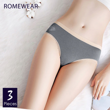 Girls Cotton Lace Briefs Underpants Women Breathable Underwear Panties No Trace Comfort Female Knickers Intimate 3 pcs/lot