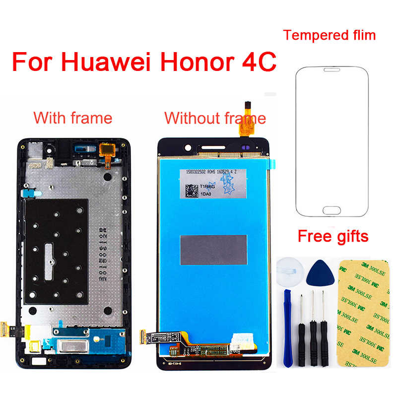 For Huawei Honor 4C LCD Touch G Play Mini LCD CHM-U23 CHM-U03 LCD CHM-U01 CHC-U01 LCD Display Panel Touch Screen Sensor Assembly