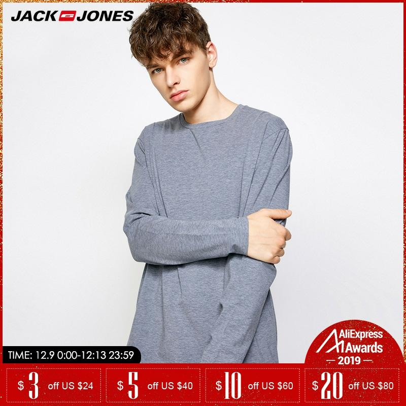 JackJones Spring Autumn Men Round Collar Long-sleeved Tops Homewear |2183HE504