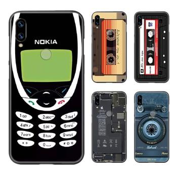 Чехол для телефона с камерой в стиле ретро, чехол для XIAOMI Redmi 7a, 8a, S2, K20, NOTE 5, 5a, 6, 7, 8, 8t, 9, 9s pro max, черный чехол для сотового телефона, мягкий чехол ...