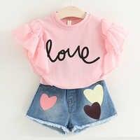Conjuntos de roupas de verão da criança meninas roupas 2pcs roupas para crianças roupas para meninas terno de treino para meninas crianças