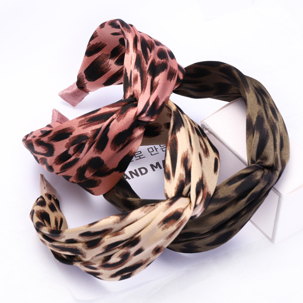 Bohemian Leopard Snake Knot Hairband Ladies Ethnic Geometric    Headband Head Hoop  Animal Print Hair Accessories For Women
