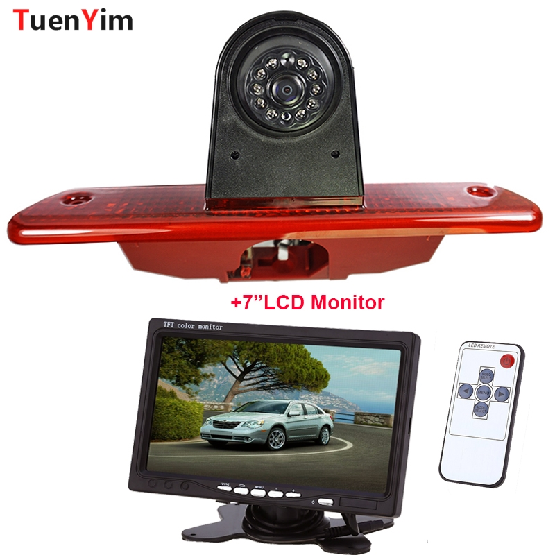 Brake Light Rear View Camera For Citroen Jumpy/Peugeot Expert/ Toyota Proace 2007 - 2016 With 7Inch LCD Monitor 2In1 Parking Kit image