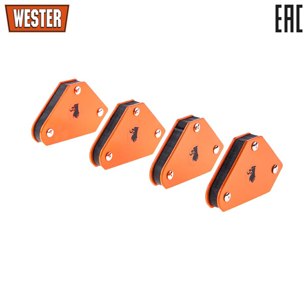 Corners magnetic for welding WESTER, MCS, 45 ° / 90 ° / 135 °, up to 5 kg, 4 pieces