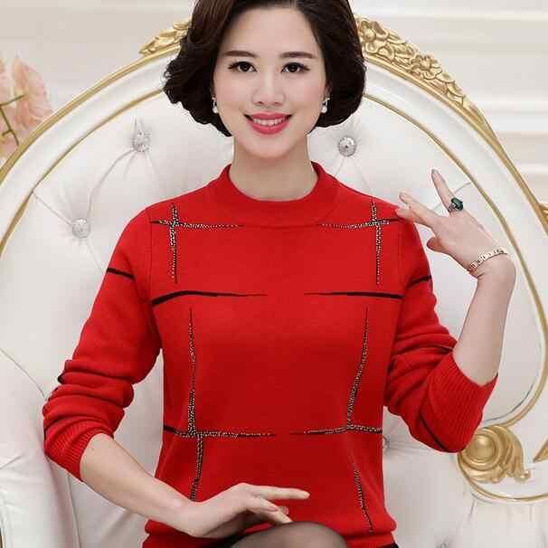 Sweater Women Plus Size Autumn Winter Long Sleeve Knitwear Women Sweaters And Pullovers Pull Femme DF754