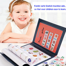 Magnetic Word Puzzle Children's Early EducationTeaching AIDS Educational Toys Learning English Cardboard Puzzle Gifts For Kids